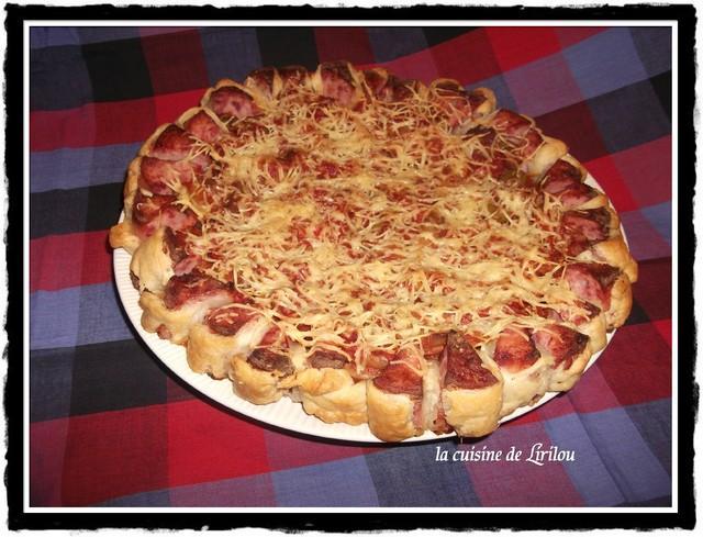 Pizza forestiere en croute farcie preparation 4