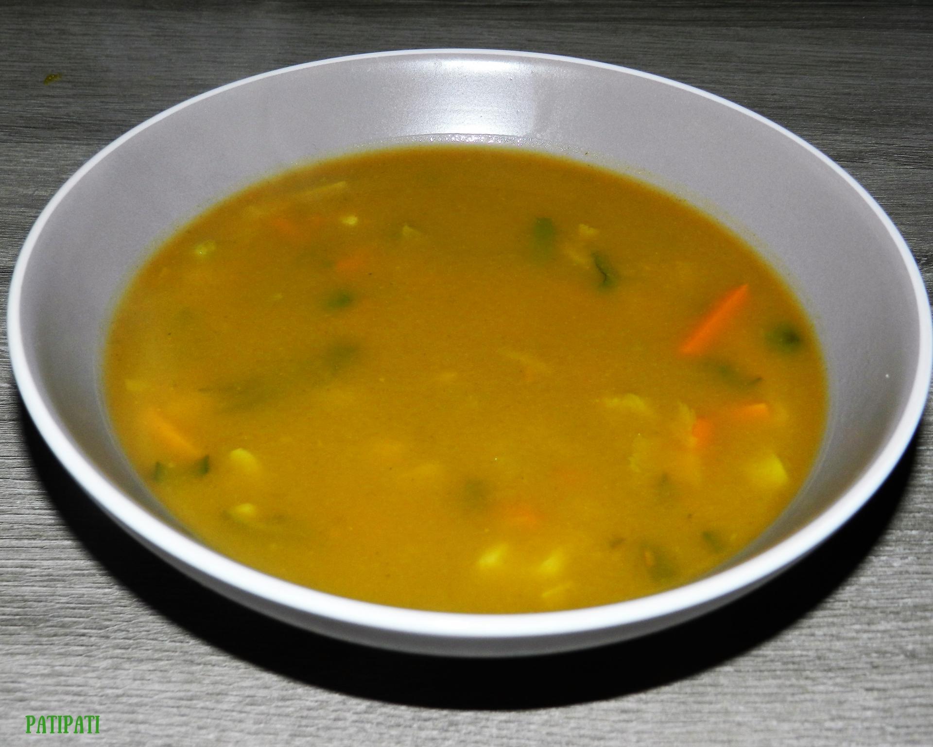 Potage au butternut et legumes