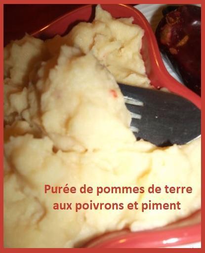 Puree de pommes de terre aux poivrons et piment
