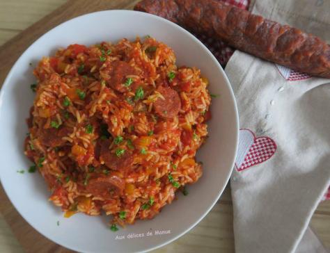 Riz aux poivrons chorizo et pulpe de tomates au cookeo ou pas