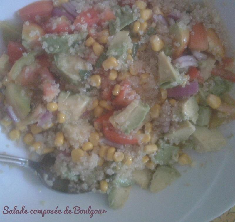Salade composee au boulgour