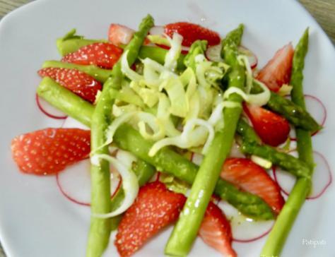 Salade d asperges vertes printaniere