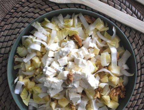 Salade d endives pommes noix et mughetto