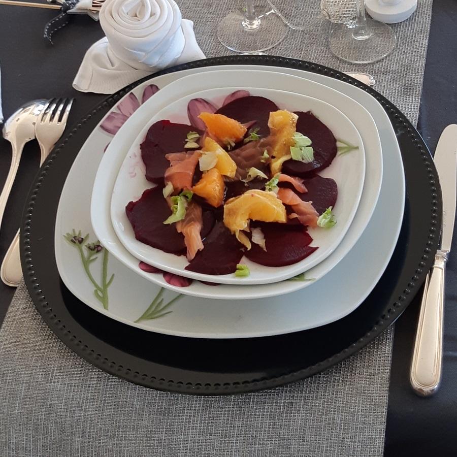 Salade de betteraves au saumon fume agrumes 1