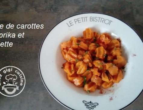 Salade de carottes paprika et ciboulette