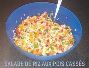 Salade de riz aux pois casses