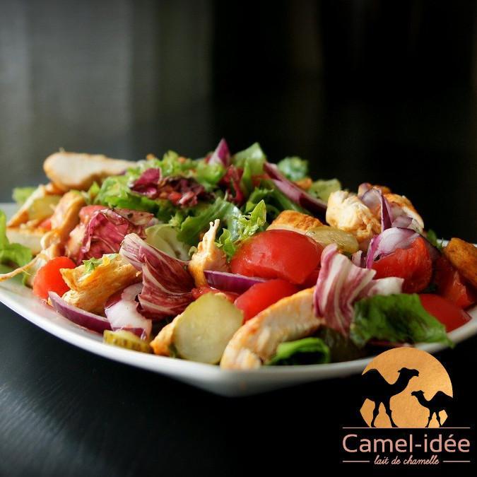 Salade estivale vitaminee au lait de chamelle