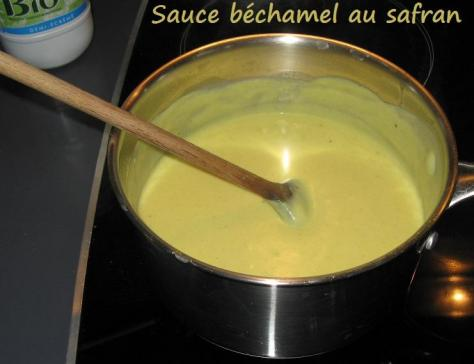 Sauce bechamel au safran