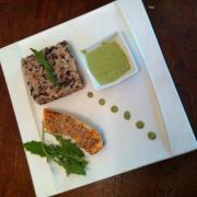 Saumon aux graines de sesame sauce au the vert