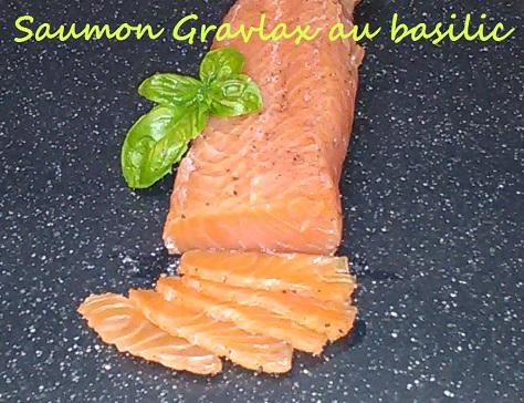 Saumon gravlax au basilic