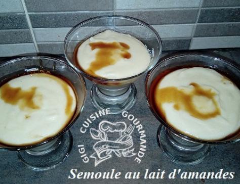 Semoule au lait d amande au miel au thermomix