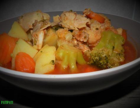 Soupe aux legumes et poulet