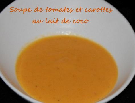 Soupe tomato carotto coco