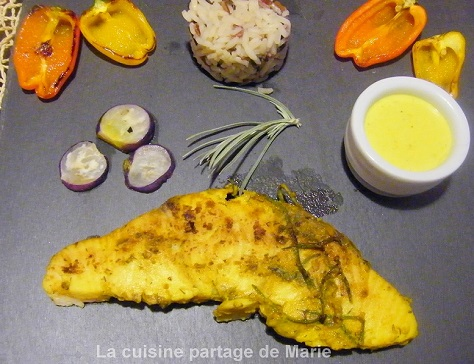 Steak de requin au curcuma