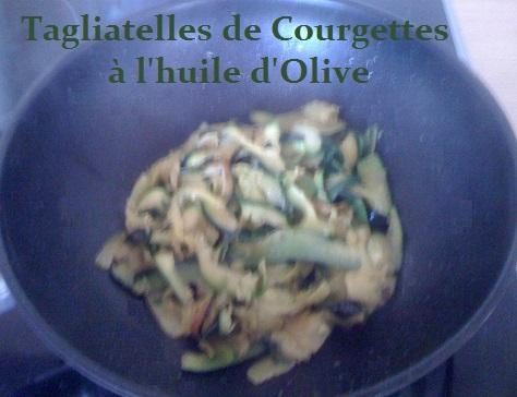 Tagliatelles de courgettes a l huile d olive