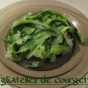 Tagliatelles de courgettes au bouillon