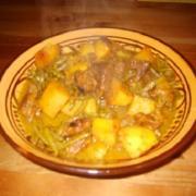 Tajine de boeuf haricots verts et pommes de terre