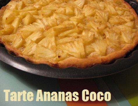 Tarte a l ananas et a la noix de coco