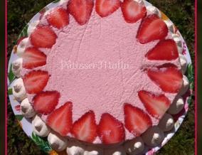 Tarte a la mousse de fraises