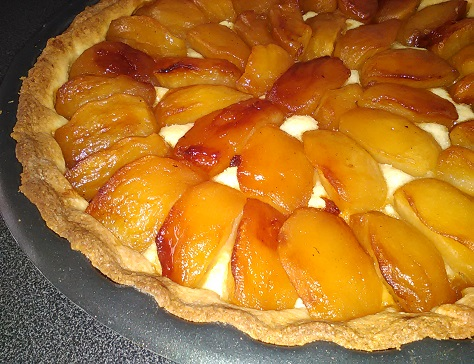 Tarte amandine aux pommes caramelisees