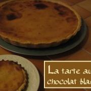 Tarte au chocolat blanc version 1