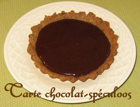 Tarte au chocolat et aux speculoos