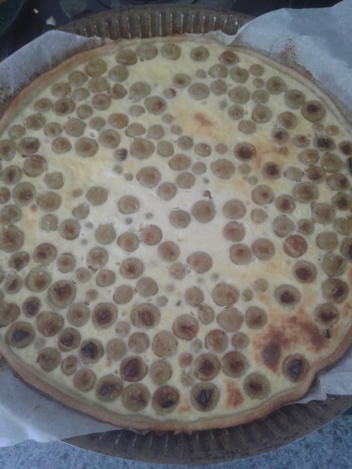 Tarte au raisin muscat