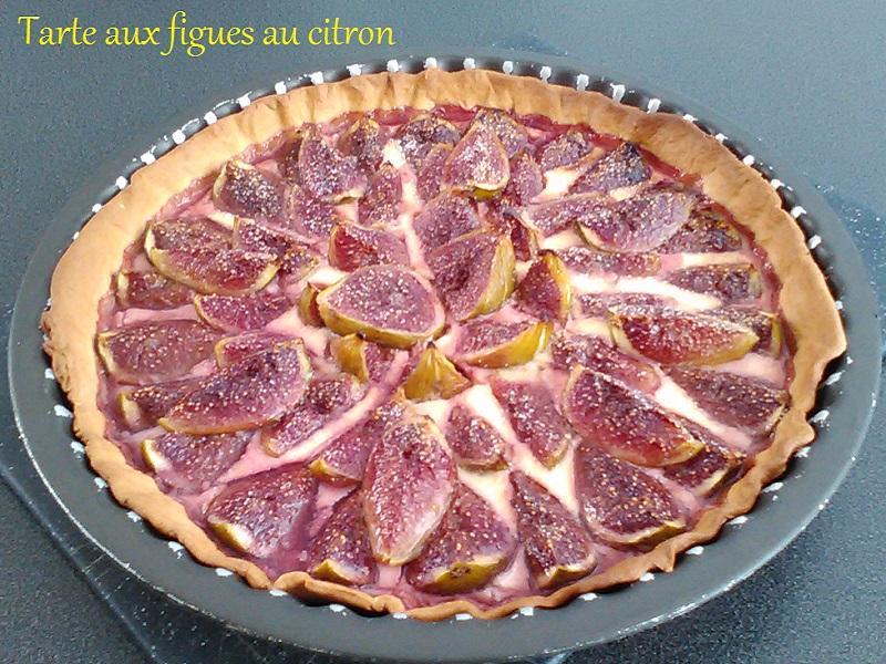 Tarte aux figues au citron