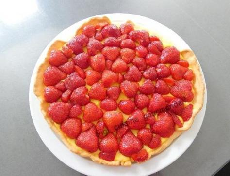 Tarte aux fraises creme patissiere citronnee