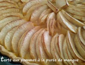 Tarte aux pommes a la puree de mangue
