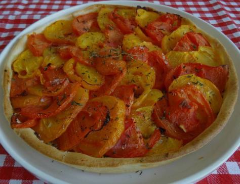 Tarte aux tomates et moutarde a l ancienne
