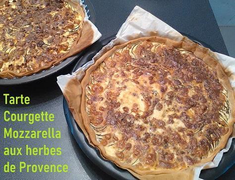 Tarte courgette mozzarella aux herbes de provence
