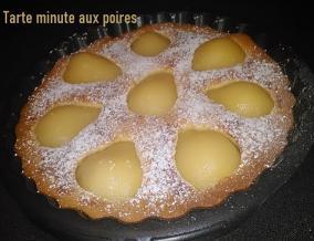 Tarte minute aux poires