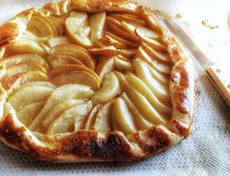 Tarte pomme poire rustique
