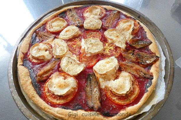 Tarte tomates sardines et chevre