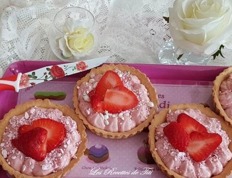 Tartelettes a la mousse de fraises