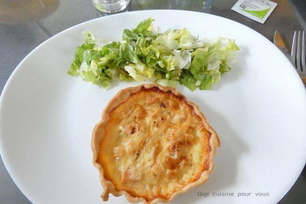 Tartelettes au reblochon et des de poulet