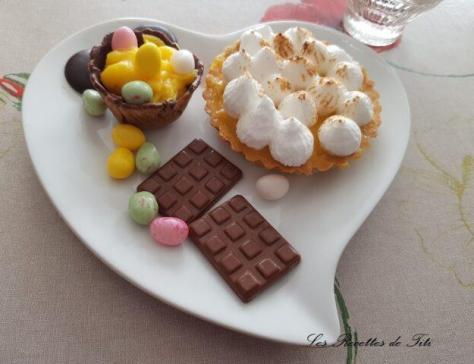Tartelettes et mini coupelles orange curd special paques