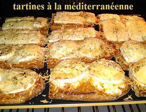 Tartines a la mediterraneenne