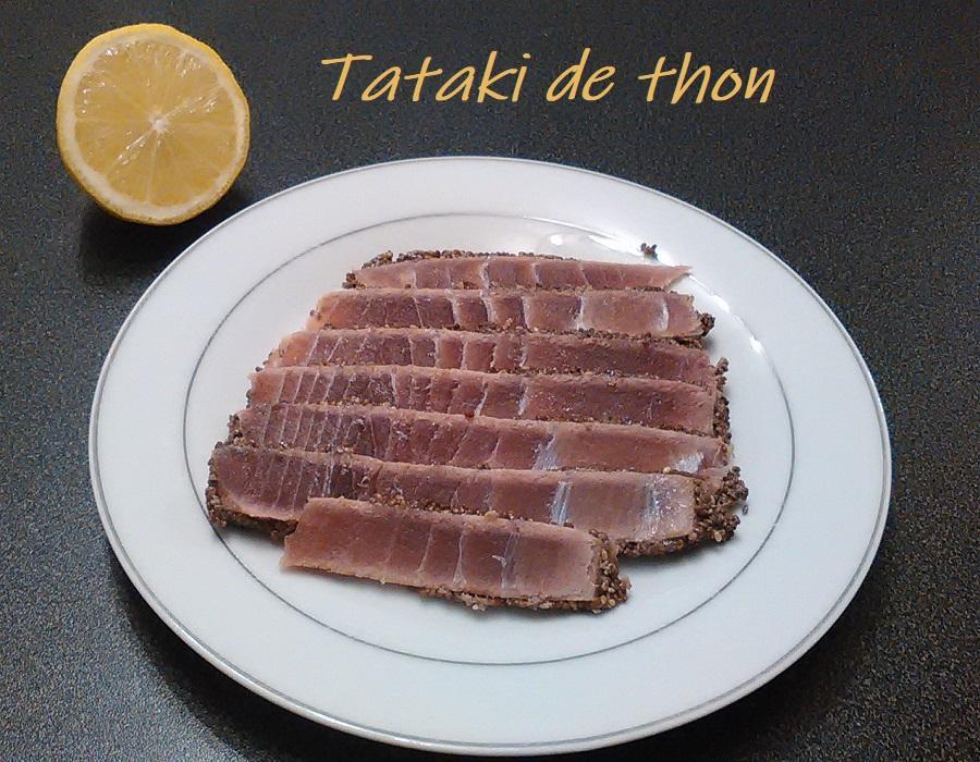 Tataki de thon