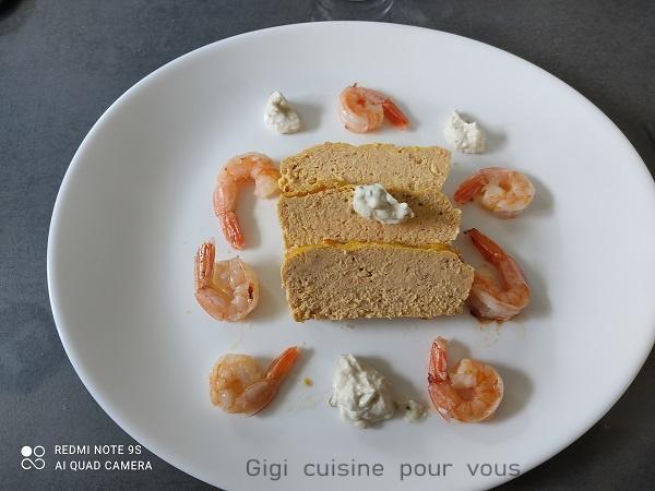 Terrine de saumon et curcuma au compact cook pro