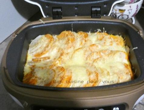 Tian de patates douces et navets au cake factory