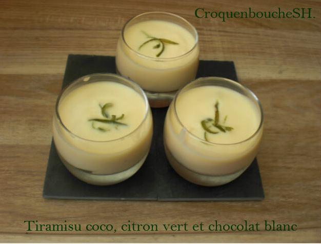 Tiramisu coco citron vert et chocolat blanc